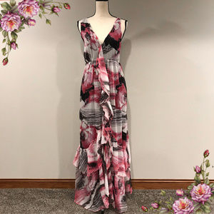 Stunning layred maxi floral dress